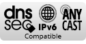 Compatible with DNSSEC, IPv6 and ANYCAST